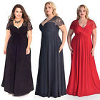 Women Summer Short Evening Lace Sleeve Cocktail Party Large Size Dress