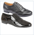 LADIES GIRLS COMFORT BLACK PU PATENT BACK TO SCHOOL LACE UP BROGUE SHOES
