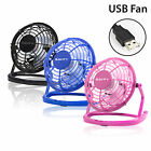 "4"" Mini Portable USB Fan Quiet Desktop Desk Silent Cooling For Laptop Copmuter"