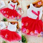 Toddler Infant Baby Girl Birthday Garden Party Girls Dresses SIZE 0-12M-1-2-3-4T