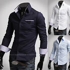 Mens New Fashion Luxury Long Sleeve Business Casual Dress Shirts Formal W194