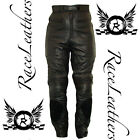 SALE CHEAP RK SPEEDO BLACK LEATHER TROUING MENS MOTORCYCLE MOTORBIKE TROUSERS