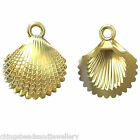 24K Gold Plated Sterling Silver 14mm Shell charm pendant PK1 PK5