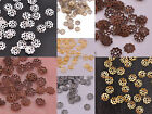 Wholesale Lots 1000Pcs Silver Gold Plated Metal Flower Bead Caps 6MM Findings
