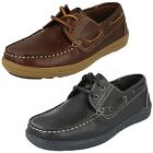 Mens Clarks Lace Up Boat Shoes Ro Deck