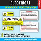 Electrical Safety Stickers - Danger 230 / 415 volts / Caution BS 7671