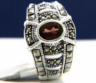 New Womens Sterling Silver 1.30 Ct Oval Cut Garnet CZ Engagement Wedding Ring