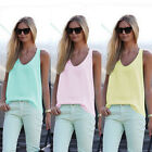 Fashion Women Summer Sleeveless Shirt Blouse Casual Tank Tops T-Shirt Vest Tops