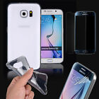 Slim Soft TPU Case Cover Tempered Glass Screen Protector For Samsung Galaxy S6