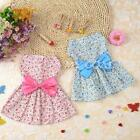 Pet Dog Dress Skirt Cat Bow Princess Clothes Apparel Female Costume Range PICK