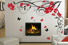 Large Flower Butterfly Vine Wall Stickers Graphic Sticker Transfer Vinyl Decal