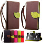 Flip Stand Wallet Protective Soft Card Holder Case Cover Skins For Sony Z5 M5 C5
