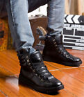 Fashion Men High Top Breathable Ankle Boots Sneakers New Korean Casual Shoe