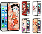 Betty Boop Phone Case Cover Comic Cartoon Girl For iPhone 8/7 6s Plus 5 5c 4 SE $9.99 USD