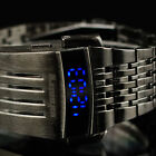 INFANTRY MENS DIGITAL LED WRIST WATCH PILOT SPORT MILITARY DATE STAINLESS STEEL