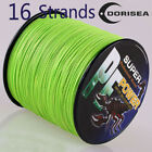 16 Strands 100M-2000M 20-300LB Fluorescent Green Hollow pe Braided Fishing Line