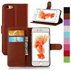 Magnetic PU Leather Stand Card Wallet Flip Case For iPhone 4s 5s SE 5c 6 6s Plus