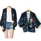 New Womens Floral Printed Blouse Long Sleeve Chiffon Tops Loose Coat W/ Lining