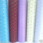 Organza glitter dot snow sheer 5 colours 29cm wide table runners bows  per metre
