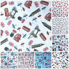 "Celebrating London 100% cotton fabrics 54""wide (137cm) 7 designs per 1/2 M"
