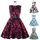 VINTAGE Style Kids Children Retro Rock N Roll Cotton Swing Pinup EVENING Dresses
