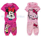 New Hello Kitty/Minnie Mouse printed Girls Tracksuit 2 PCS Outfit Sets 6M-6Yrs