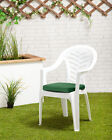 green plastic garden chair