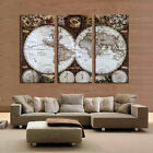 unframed 3 Pieces Wall Art Map Restoring Ancient Ways Picture HD Canvas Print