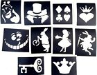 10 x alice in wonderland stencils top up your glitter tattoo kit face paint