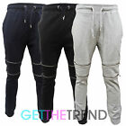 Mens Skinny Fit Joggers Fleece Trousers Slim Jog Pants Sweats Bottoms Jogging