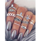 10Pcs Joint Combination Circle Finger Ring Fashion Women Jewelry Accessories