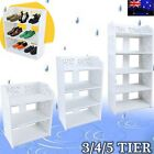 3/4/5 Tiers Shoe Cabinet Rack Storage Organiser Shelf  Home Cupboard White AU