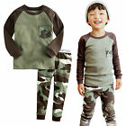 "NWT Vaenait Baby Toddler Kids Boys Clothes Pajama Set ""Pocket Military"" 12M-7T"