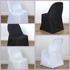 100 FOLDING Round Polyester Fabric CHAIR COVERS Wedding Party Wholesale Supplies
