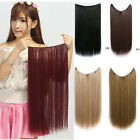 Women Lady Long Straight Hairpiece Elastic Hair Extensions Party Colorful Hair