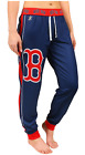 KLEW MLB Women's Boston Red Sox Cuffed Jogger Pants, Navy