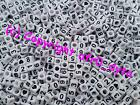 100 to 1000 White Mixed Numbers Cube Beads 6mm For Jewellery Making