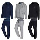 ADIDAS ORIGINALS MEN FLEECE FULL TRACKSUIT TREFOIL COLOR BLUE GREY BLACK