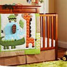 New 7 Pieces Adorable animal BabyBoy Crib Cot Bedding Quilt Set