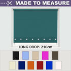 MADE TO MEASURE - Up to 210cm Drop - ROUND EYELET ROLLER BLIND [Long drop]