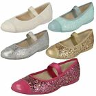 Girls Clarks Glittery Party Flats Dance Solo