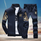 2PCS Mens Sweater Casual Tracksuit Sport Suit Jogging Athletic Jacket+Pants