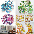 12PCS 3D BUTTERFLY DECAL HOME ROOM CURTAIN STICKERS DECORATIONS BROOCH ART