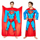 DC Comics Adults Superman Lounger Muscle Print Sleeved Fleece Blanket