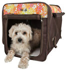 Floral Folding Collapsible Lightweight Travel Wire Framed Pet Dog Crate Carrier