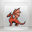 Decals Sticker Dragon Mascot Helmet Atv Bike polymeric vinyl Garage mtv X2757