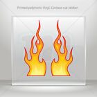 Decals Decal Pair Of Color Flames Atv Bike polymeric vinyl Garage mtv RS7XX