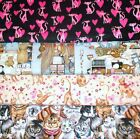 CATS #1  FABRICS Sold INDIVIDUALLY NOT AS A GROUP By the HALF YARD