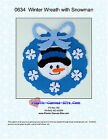 Wreath with Snowman- Plastic Canvas Pattern or Kit-Winter /Christmas
