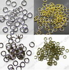 100 JUMPRINGS OPEN JUMP RINGS SILVER GOLD BRONZE SIZE & MATERIAL 5mm 4mm 7mm
